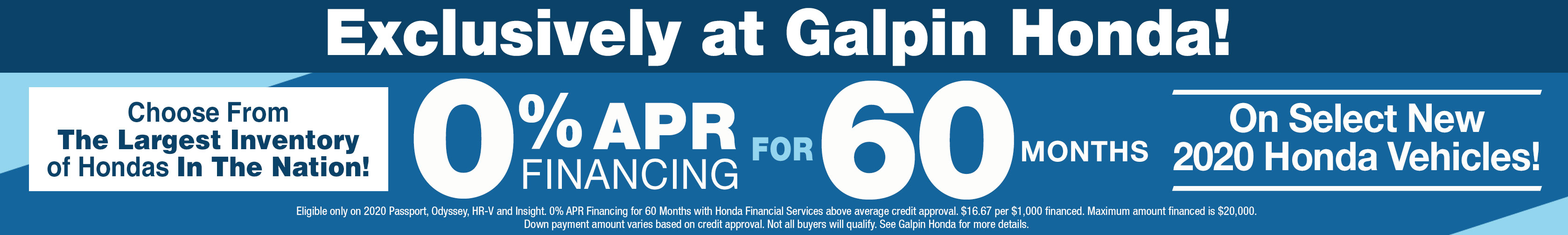 Galpin Honda Sales Event