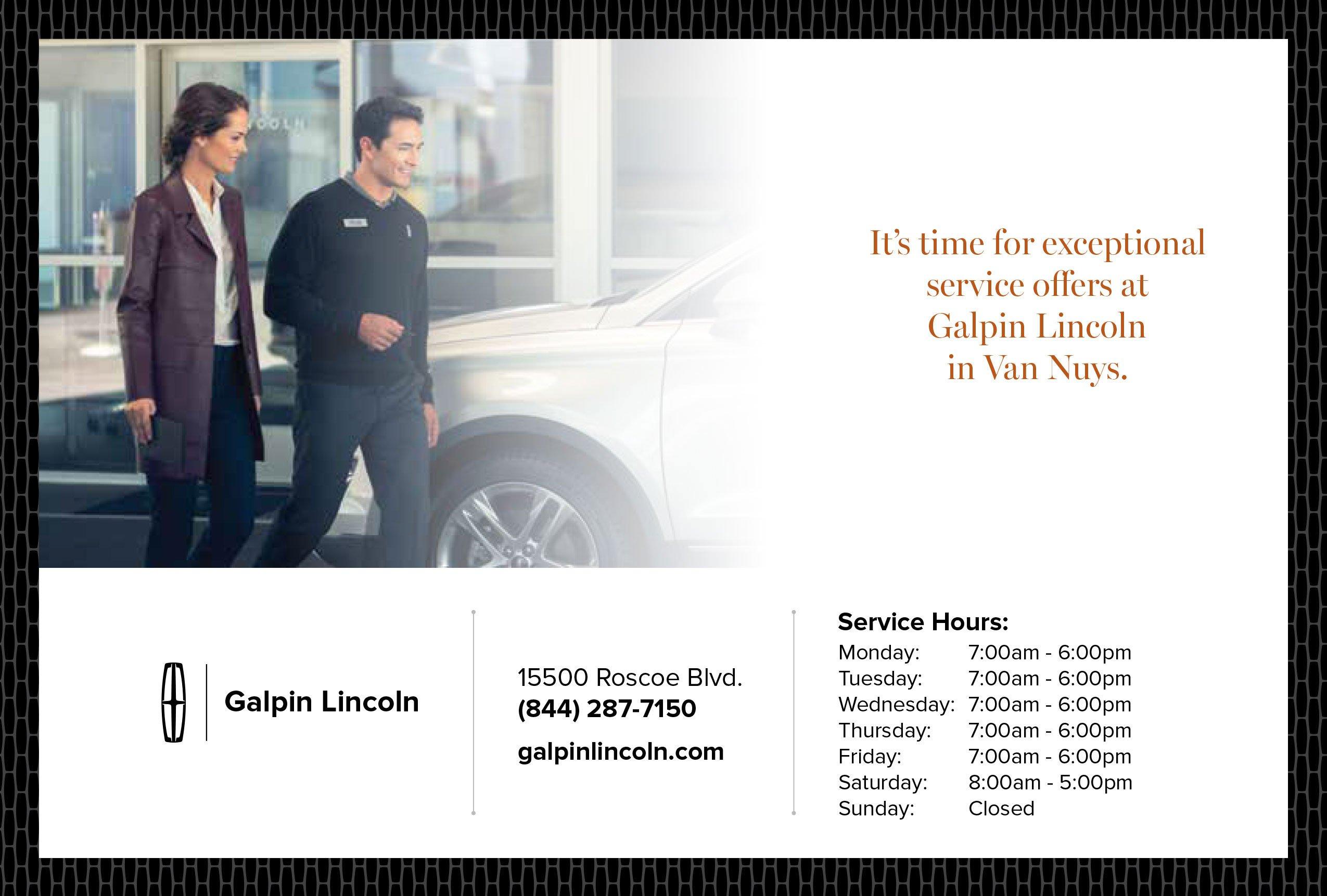 Lincoln Parts & Service Specials Van Nuys San Fernando Valley Near