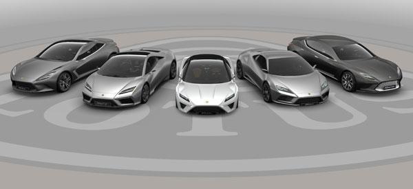 New Lotus Car Lineup