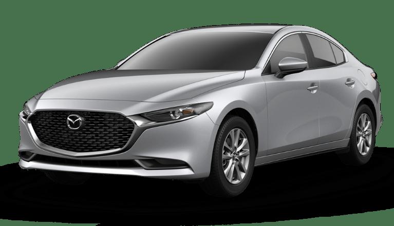 Silver Mazda 3