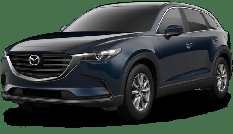 Blue Mazda CX9