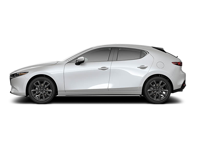 White Mazda 3 Hatchback