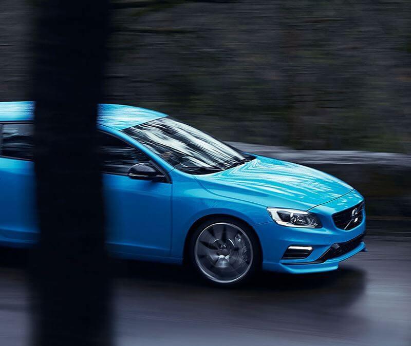 Blue Volvo V60