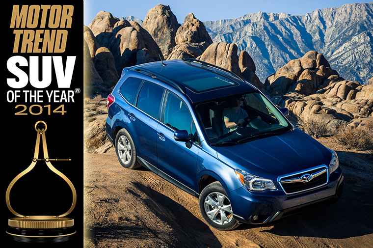 2014 motor trend suv of the year subaru forester for Subaru motors finance address
