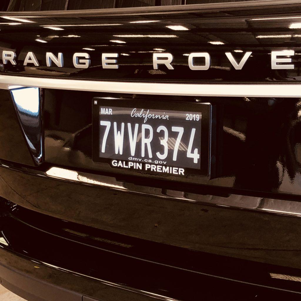 Rplate Pro, California Digital License Plate - Galpin Volkswagen