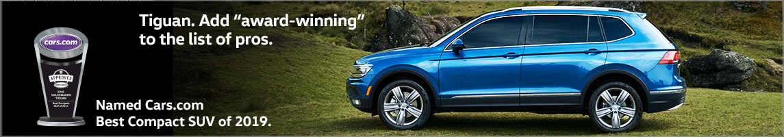 2019 Tiguan Named Best Compact SUV by Cars.com