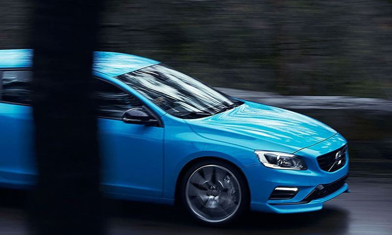 Blue Volvo Car