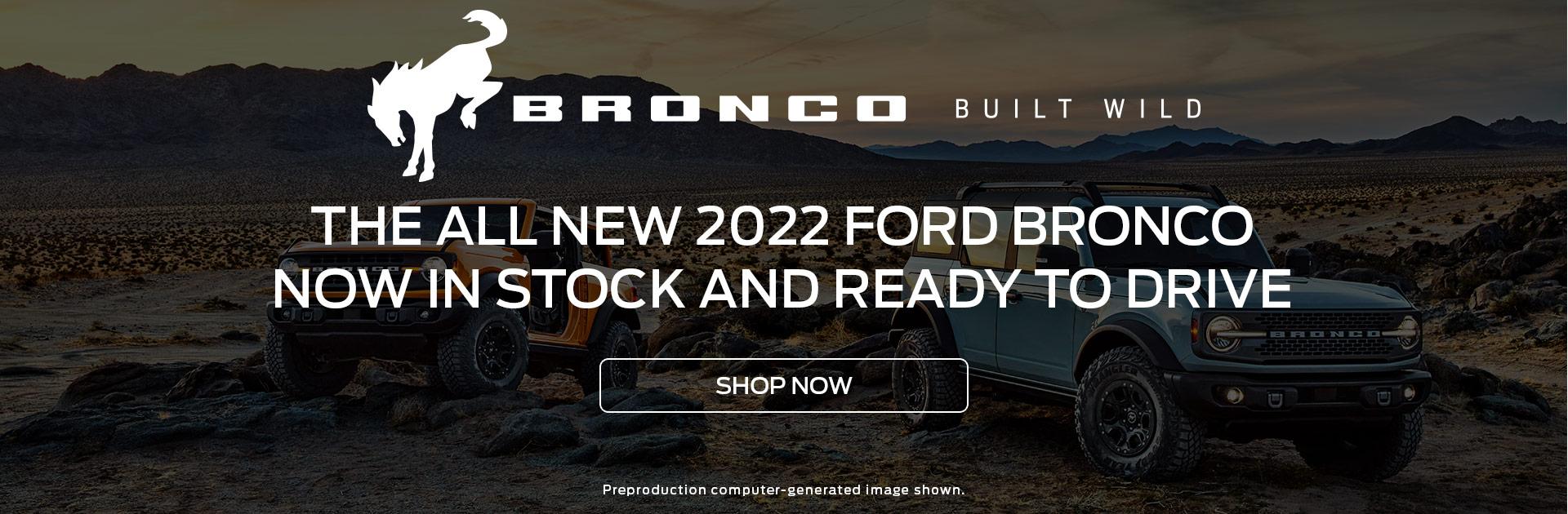 Bronco Now In Stock