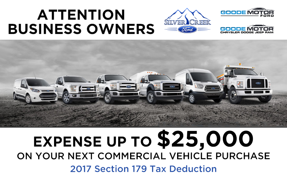 Attention Business Owners Expense Up To 25 000 On Your Next Commercial Vehicle Purchase 2017