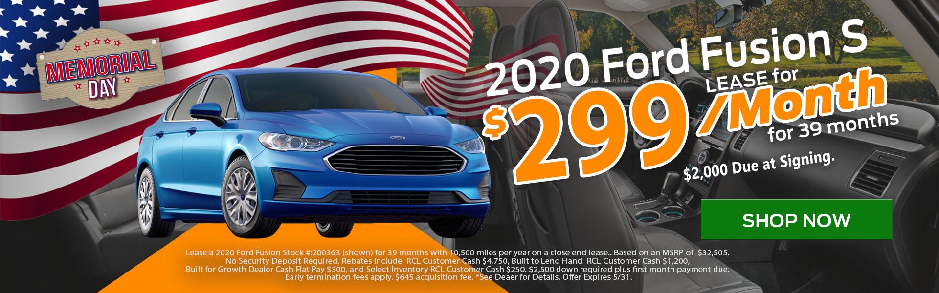 Ford Fusion Memorial Day Sale - Hacienda Ford