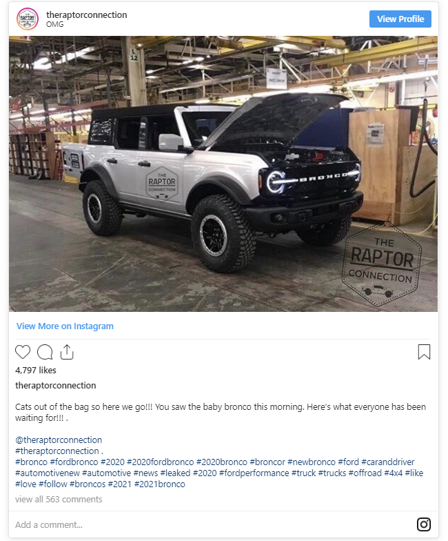 Ford Bronco - raptor connection