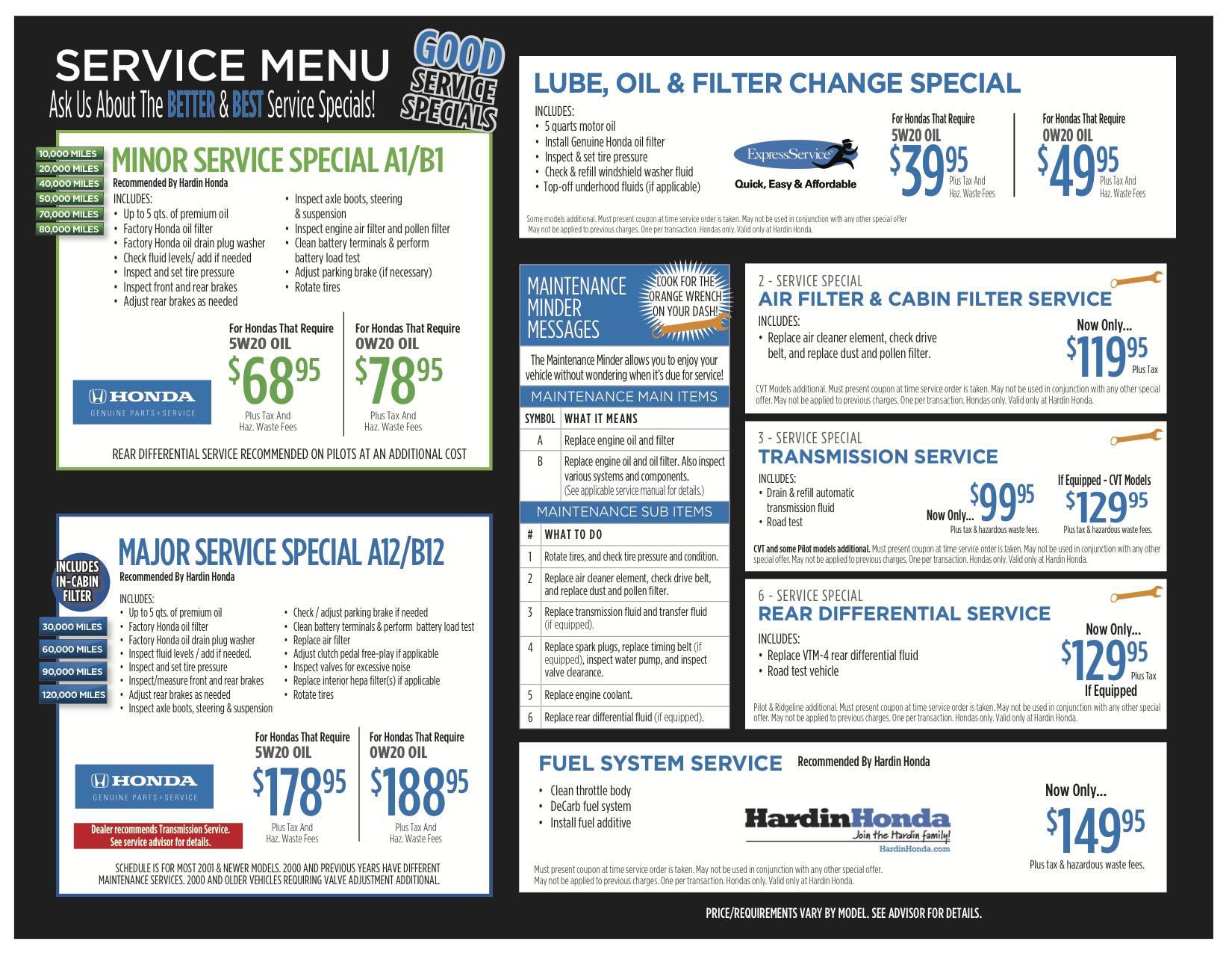 Honda Dealership Orange County >> Honda Service Specials, Auto Parts Deals, Service Coupons ...