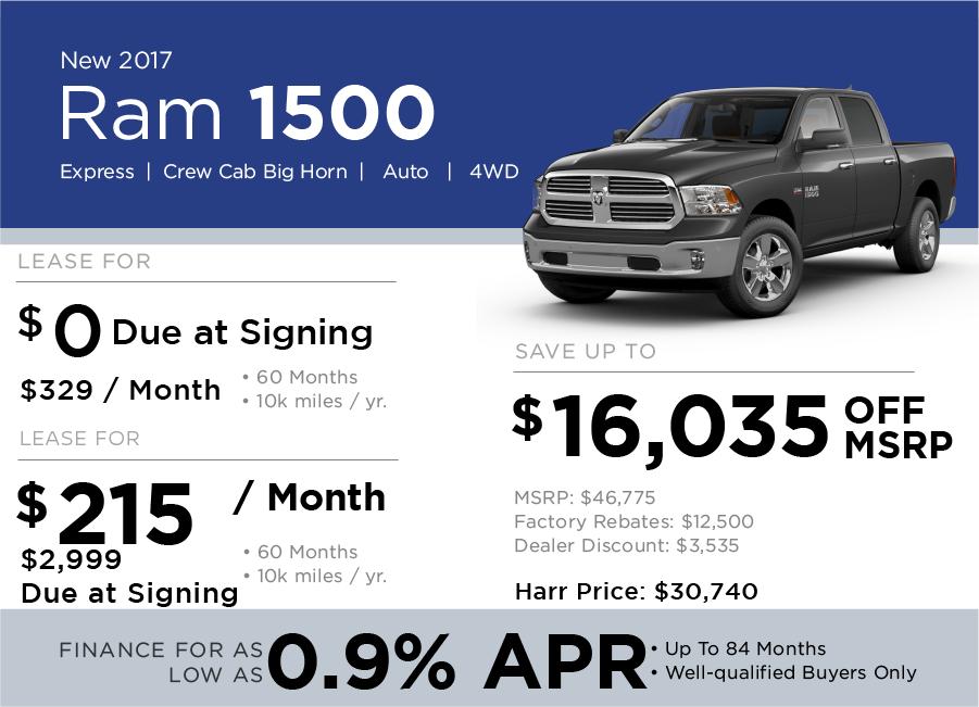 Ram 1500 Special Offer