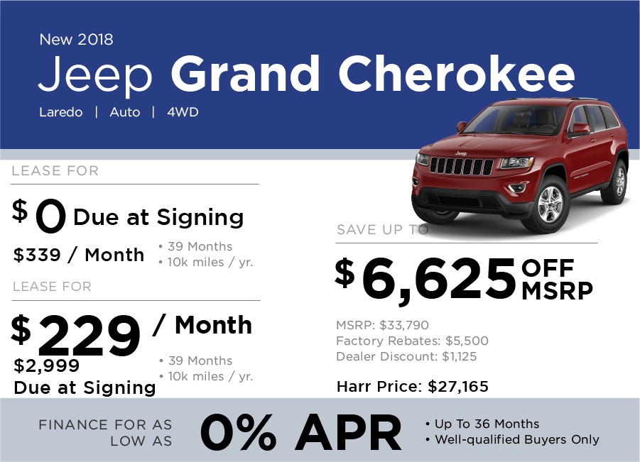 Grand Cherokee Special Offer