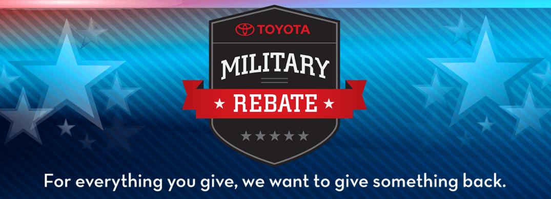 Toyota Military Rebate