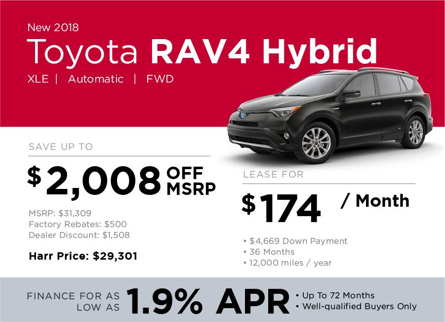 Toyota RAV4 Hybrid Special Offer