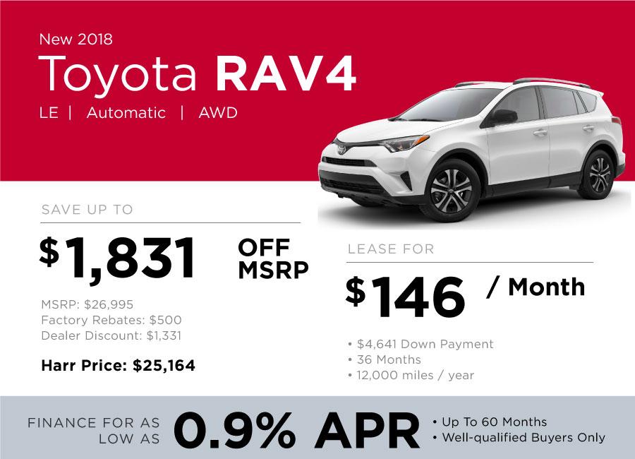 Toyota RAV4 Special Offer