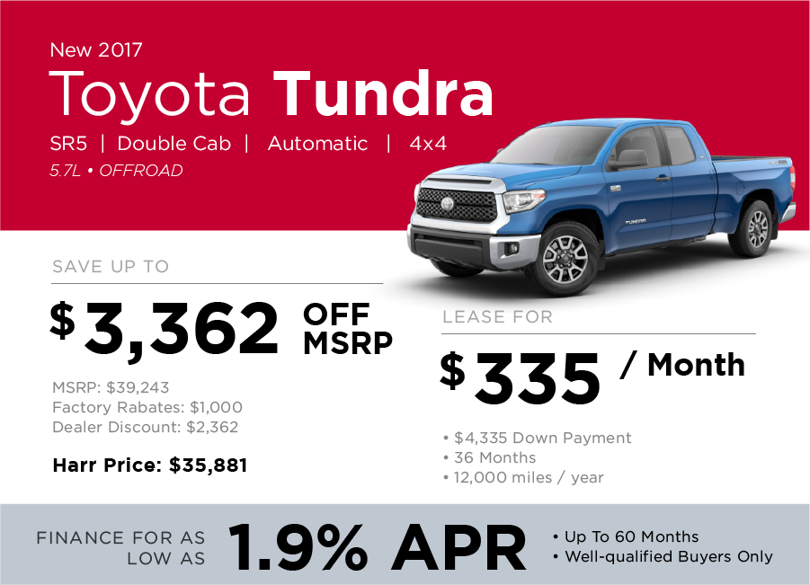 Toyota Tundra Special Offer