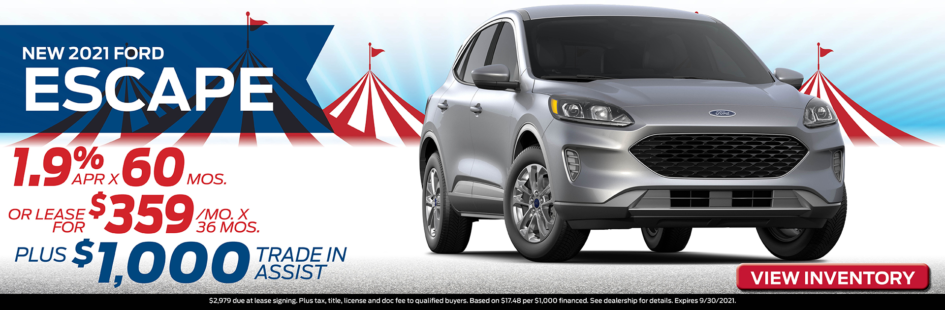 2021 Ford Escape Finance or Lease Offer | Hawk Ford of St. Charles