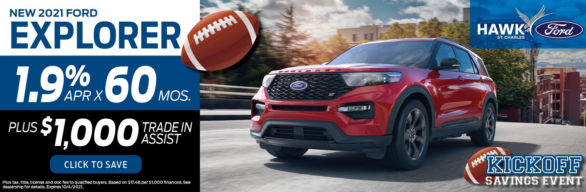 2021 Ford Explorer Finance Offer | Hawk Ford of St. Charles