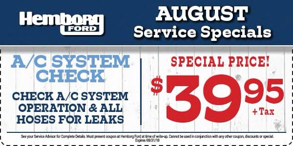 vehicle service specials in norco ca hemborg ford