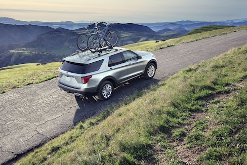 Ford Explorer With Bike Rack