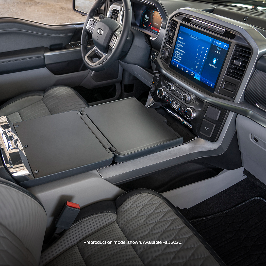 2021 F-150 Side View of Center Console and Infotainment Screen