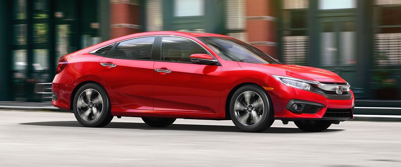 2017 Honda Civic in Red