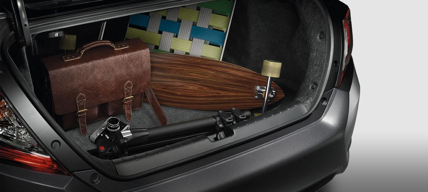15.1 cu. ft. of cargo space, 60/40 split fold-down rear seats