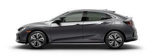 new 2017 Honda Civic Hatchback EX model inventory in Downtown Los Angeles