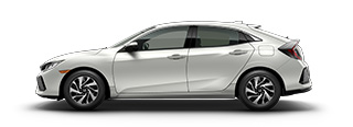 new 2017 Honda Civic Hatchback LX model inventory in Downtown Los Angeles