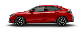 new 2017 Honda Civic Hatchback Sport model inventory in Downtown Los Angeles