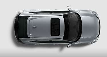 2017 Honda Civic Hatchback aerial view