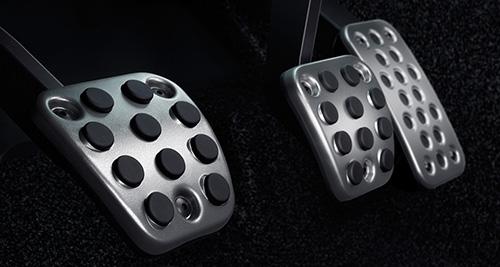 2017 Honda Civic Hatchback aluminum pedals standard on Sport & Sport Touring models