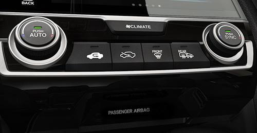 2017 Honda Civic Hatchback automatic climate control system