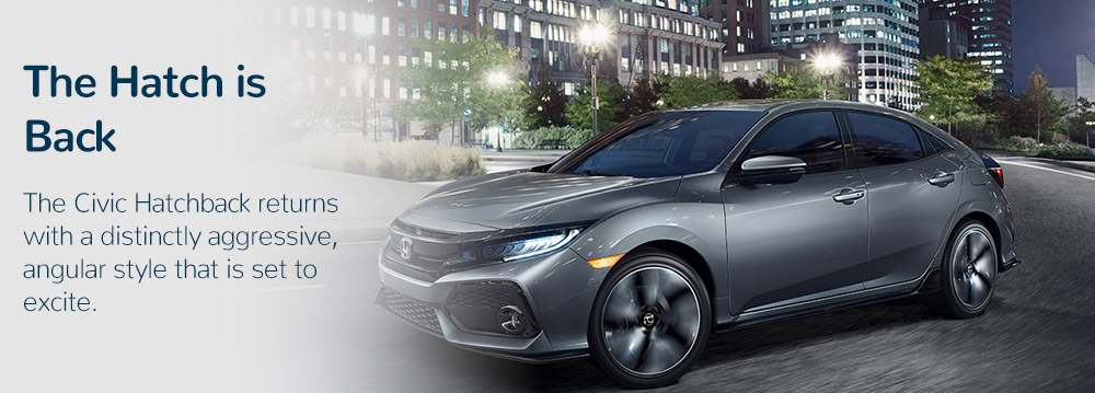 new 2017 Honda Civic Hatchback exterior in Downtown Los Angeles