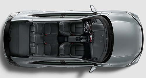 2017 Honda Civic Hatchback interior design layout