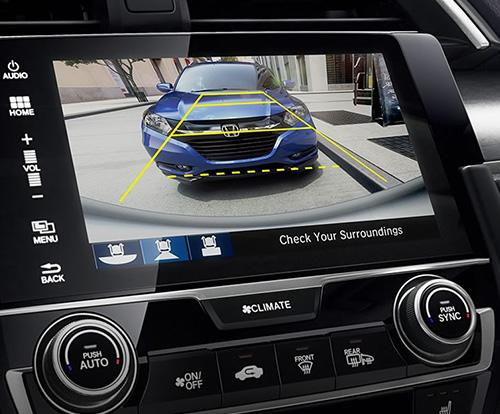 2017 Honda Civic Hatchback multi-angle rearview camera