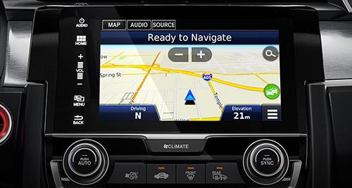 2017 Honda Civic Hatchback satellite linked navigation system