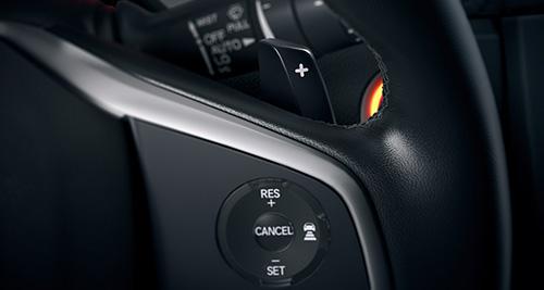 2017 Honda Civic Hatchback paddle shifters standard on Sport with CVT & Sport Touring