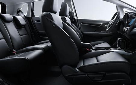 2017 Honda Fit Black Interior