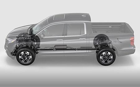 2017 Honda Ridgeline i-VTM4 AWD system available