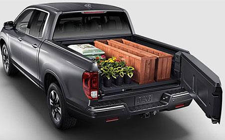 2017 Honda Ridgeline truck bed full storage