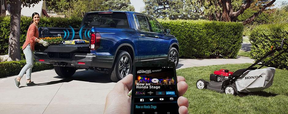 2017 Honda Ridgeline truck bed stereo speakers