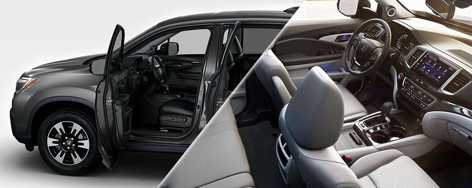 2017 Honda Ridgeline cabin interior