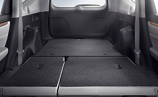 2017 Honda CR-V cargo area with 60/40 rear fold-flat seating