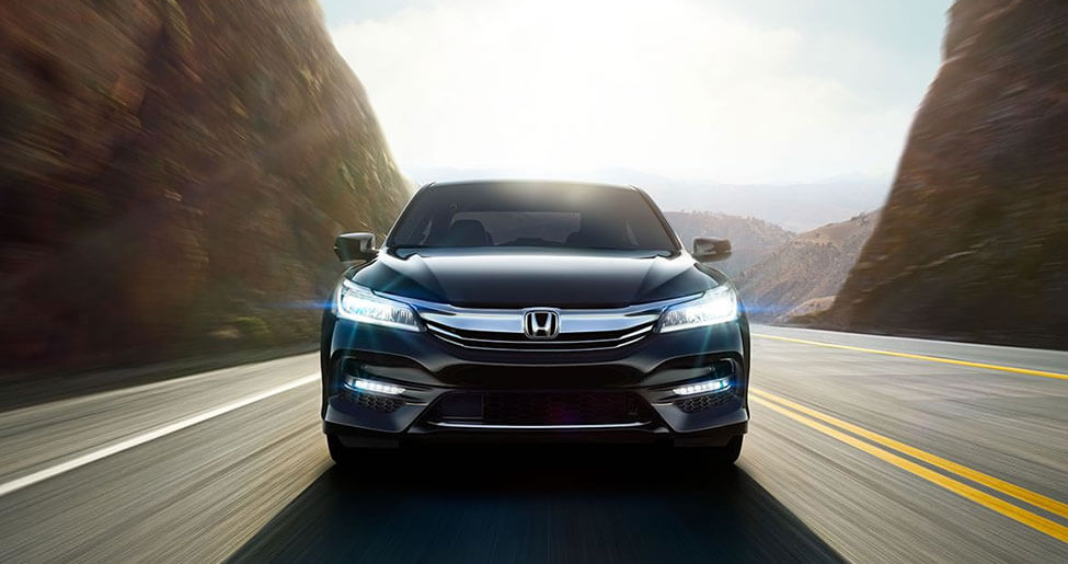 2017 Honda Accord driving through a canyon in Los Angeles