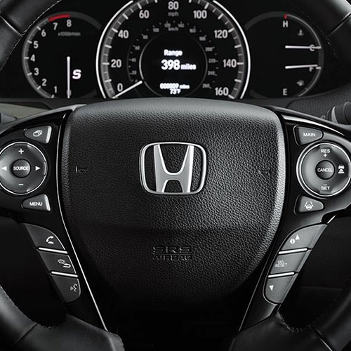 2017 Honda Accord ergonomically-designed steering wheel with controls in Los Angeles
