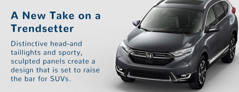 The exterior design of the CR-V is both sporty and refined, and shows off how we're redefining the modern family SUV.