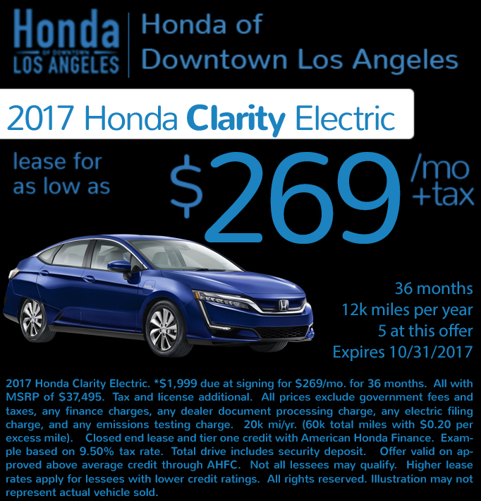 Check out these new car lease special deals on the all new Honda Civic. Contact our dealership in Downtown Los Angeles for more details!